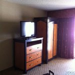 Bedroom TV and armoire