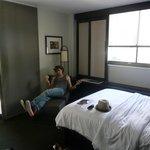 Bedroom (excuse the boyfriend)