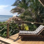 Ocean view from white cabana