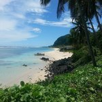 Beautiful Samoan beach nearby