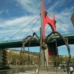 araña frente al museo