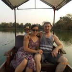 me and my girl on the river boat ride