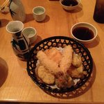 Shrimp tempura to start with lots of tasty veggies