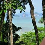 La vue depuis la terrasse du bungalow Lek 2.