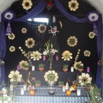 Palm Sunday altar by entrance