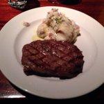 Steak au purée de pommes de terre