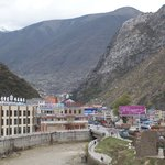 Good view of Kangding from Gongga hostel
