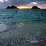 Taken from Lanikai beach at sunrise