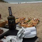 Cangrejo con ensalada de pulpo y un Oporto!!! Excelente!!