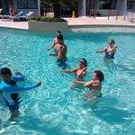 Aerobics en la piscina
