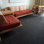 twin day beds in efficiency suite 4th floor