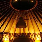 Inside Yurt number 3