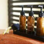 shower gel, shampoo and hair conditioner