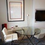 Desk area in suite
