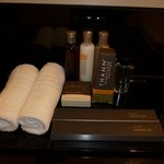 Toiletries provided in suite