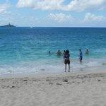 Swimming at Karakter beachfront