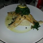 Sole fillet with spinach and smashed potatoes - really delicious