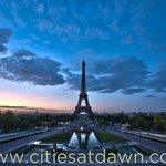 Eiffel Tower at dawn, Paris