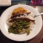 Srilankan rice and dhalcurry with fish