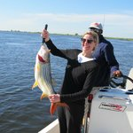 6.2kg Tiger fish - First time fisher woman.
