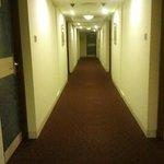 Corridor in front of rooms