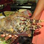 Choosing a Lobster at Ratu Kinis