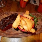 From the daily special board .. steak and chips