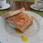 Club-Sandwich, Frühstück