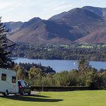 Arriving at Castlerigg Hall Caravan and Camping Park