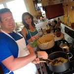 Thanks for a great time cooking together Greg and Lisa!