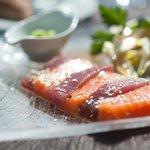 Sachimi de thon et saumon
