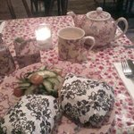 Delicious sandwich and tea at Bell & Pot