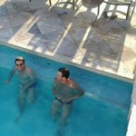 foto na piscina