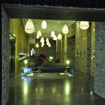 Lobby with lanterns