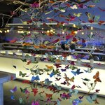 Butterfly sculpture in lobby