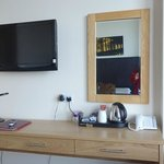 Tea coffee facilities and the TV