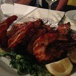 Jumbo Prawns at Psaroyannos Taverna at the Marina. Yum!