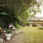 Peaceful garden at Kennedys overlooking Onrus Beach & Lagoon