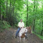 On the trip to the top -Yokum's horse ride...