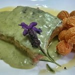 Salmon with fine herbs sauce