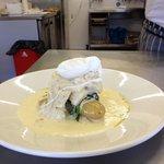 Smoked haddock poached egg