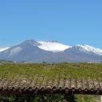 vue de notre chambre sur l' Etna