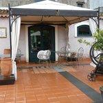 terrasse du restaurant de  l'hôtel