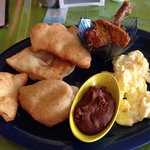 Belizean Breakfast with fried jacks $15bze dollars