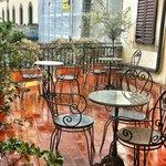 Balcone per la colazione all'aperto