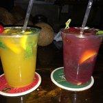 Deliciousness in a cup - mango mojito and strawberry mojito.