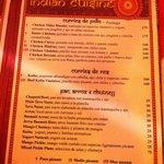 Menu at Curry Omm