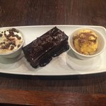 Chocolate Brownie with honeycomb ice cream and cream recommend