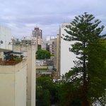 Vista da minha janela (o tempo estava horrível neste dia)