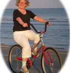 Happiness is biking on Hilton Head Beach!